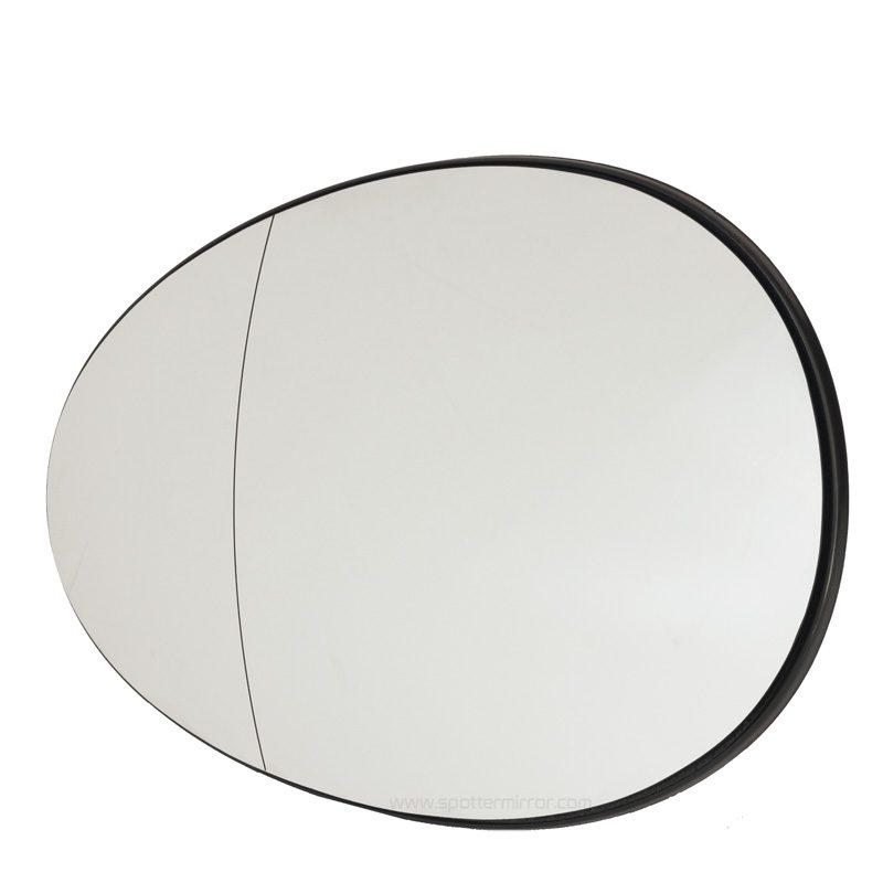 Mini Cooper 2007-up mirror glass ashperical LH Driver