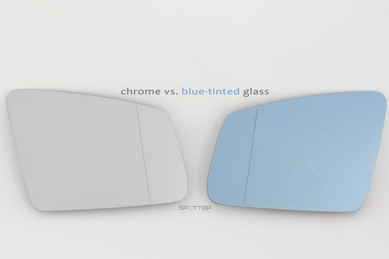 Mercedes crome vs blue tinted mirror glass
