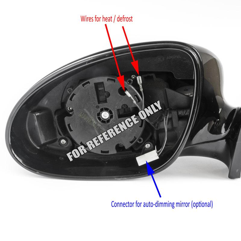 Mercedes S CL CLS mirror diagram left driver side