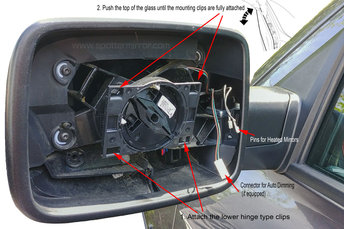 2009 2018 Dodge Ram 1500 Spotter Mirror Direct Replacament 09 Silverado Heated Wiring Diagram Driver Side Install