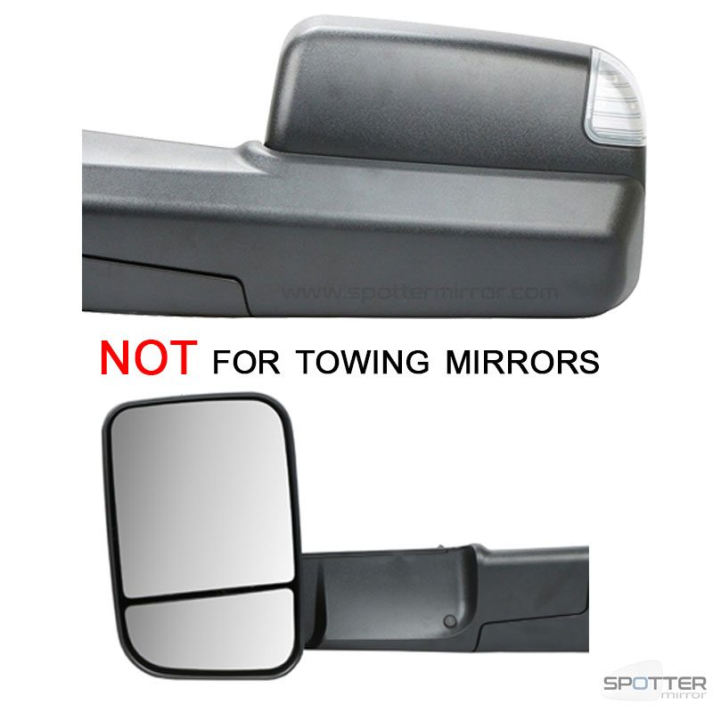 spotter mirrors does not fit towing mirror housing