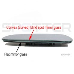 Flat vs. Convex (curved) blind spot side view mirror