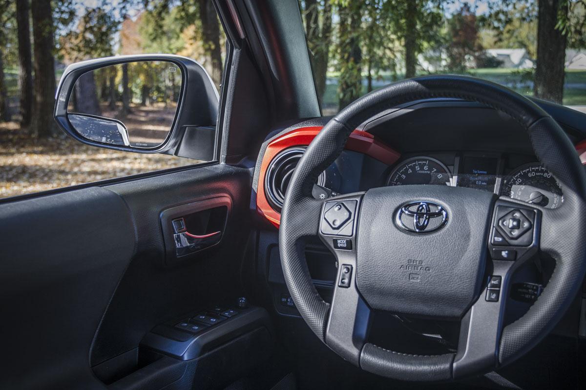 tacoma interior with spotter mirror